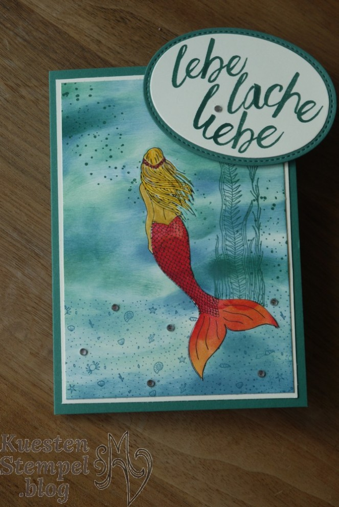 Magical Mermaid, Paper Piecing, Im Herzen, Stampin' Up