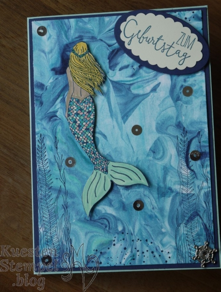 Magical Mermaid, Rasierschaumtechnik, Für besondere Anlässe, Stampin' Up