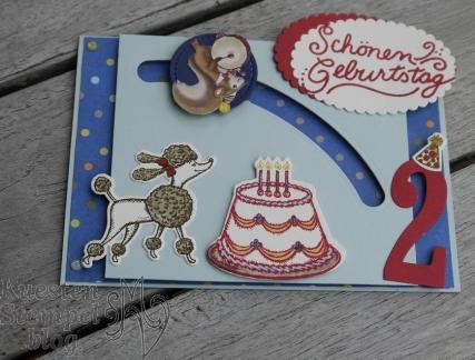 Kullerkarte, Nostalgischer Geburtstag, Geburtstagskreation, Stampin' Up, Kuestenstempel.blog