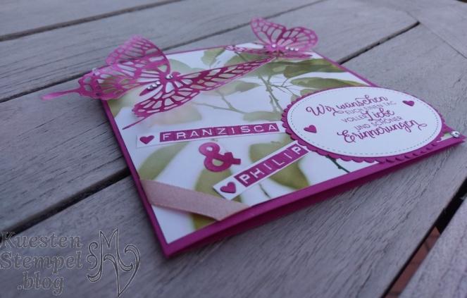Hochzeit, Schmetterlinge, Labeler Alphabet, Blüten des Augenblicks, Stampin' Up, Kuestenstempel.blog