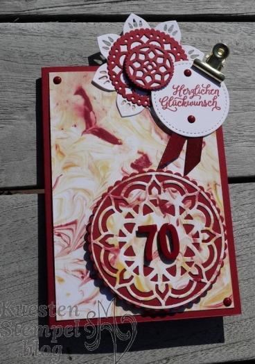 Schönheit des Orients, Orient-Medaillons, Rasierschaumtechnik, Stampin' Up, Kuestenstempel.blog