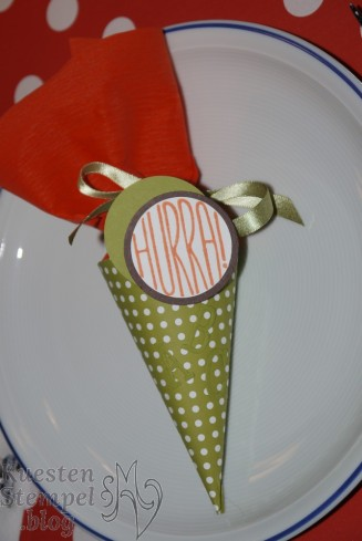 Einschulung, Mini Schultüten, Konfetti-Grüße, Stampin' Up, Kuestenstempel.blog