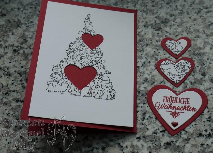 P1330108Spotlighting Technique, Santa Paws, Weihnachtskarte, Von Herz zu Herz, Stampin' Up, Kuestenstempel.blog
