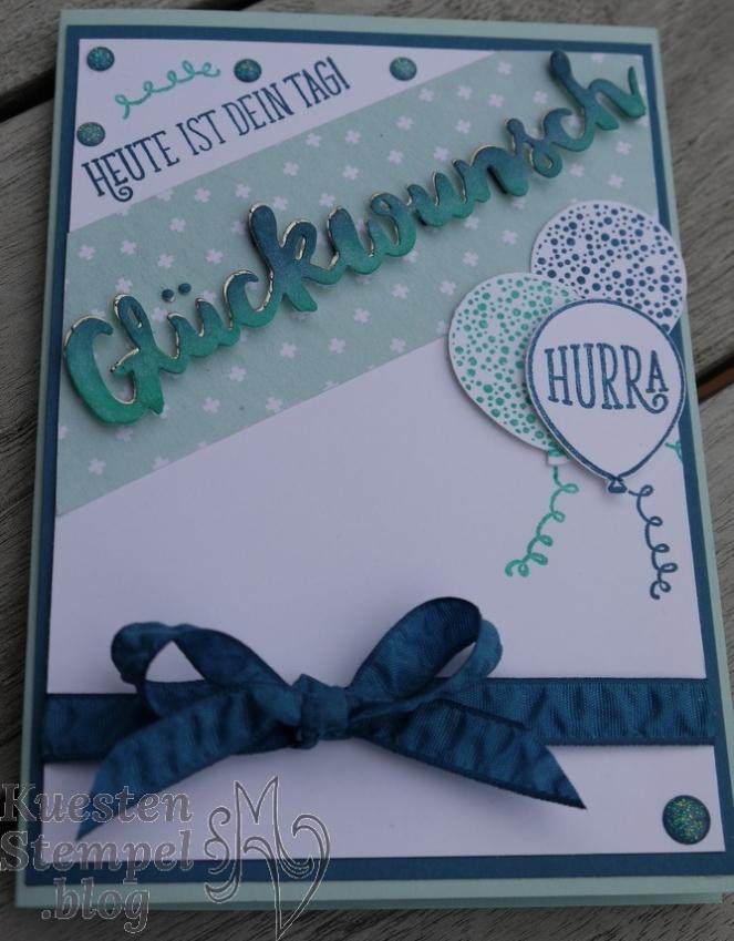 Thinlits Grüße voller Sonnenschein, Stanze Luftballons, Alles Liebe Geburtstagskind! Stampin' Up, Kuestenstempel.blog