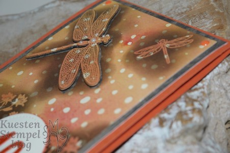 Background Bits, Embossing Resist, Li(e)belleien, Thinlits Formen Libelle, Stampin' Up, Kuestenstempel.blog