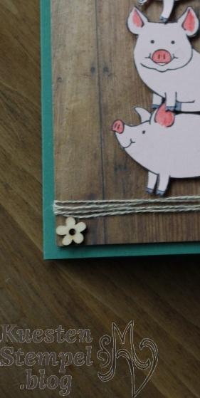 Glücksschweinchen, Designerpapier Holzdekor, Labeler Alphabet, Stampin' Up, Kuestenstempel.blog