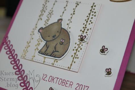 Tierische Glückwünsche, Tierisch süß, Rund ums Datum, Babyglück, Stampin' Blends, Brushwork Alphabet, Stampin' Up, Kuestenstempel.blog