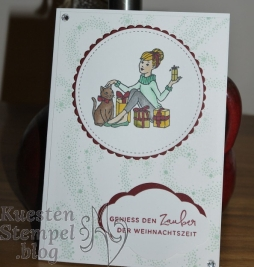 P1330556Christmas in the Making, Stampin' Blends, Weihnachten daheim, Zier-Etikett, Weihnachtsstern, Stickmuster, Lagenweise Kreise, Stampin' Up, Kuestenstempel.blog
