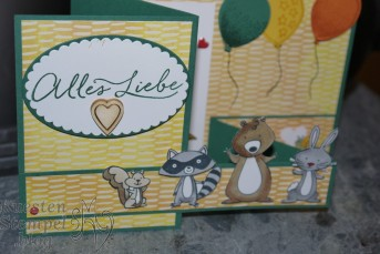 We must celebrate, Stampin' Blends, Lagenweise Ovale, Luftballons, Partyballons, Donnerwetter, Double Z Fold Card, Party- Pandas, Stampin' Up, Kuestenstempel.blog