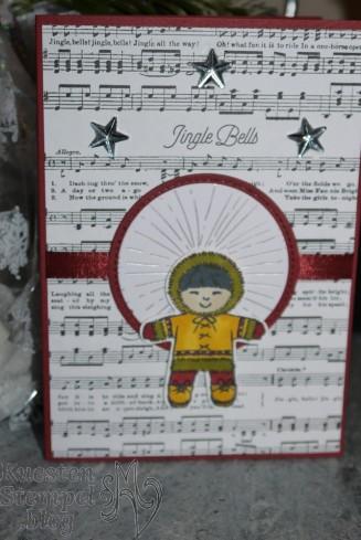 Ausgestochen weihnachtlich, Elementenstanze Lebkuchenmännchen, Lagenweise Kreise, Stickmuster, Designerpapier Winterfreuden, Designerpapier Weihnachtslieder, Stampin' Blends, Stampin' Up, Kuestenstempel.blog