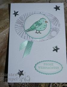 Farbenfroh, Stampin' Blends, Stickmuster,Lagenweise Ovale, Designerpapier Winterfreuden, Stampin' Up, Kuestenstempel.blog