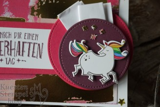 Zauberhafter Tag, Märchenhaft, Einhorn, Geldverpackung, Gemalt mit Liebe, Stickmuster, Meilensteine, Perfekter Geburtstag, Sizzix Just a Note, Stampin' Up, Kuestenstempel.blog