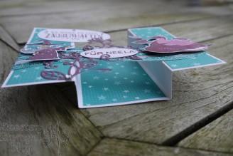 U-Fold-Card, Einfach spritzig, Märchenzauber, Labeler Alphabet, Märchenhaft, Zauberhafter Tag, Framelits Stickmuster, Wunderbar verwickelt, Blütenpoesie, Paper Piecing, Stampin' Up, Kuestenstempel.blog