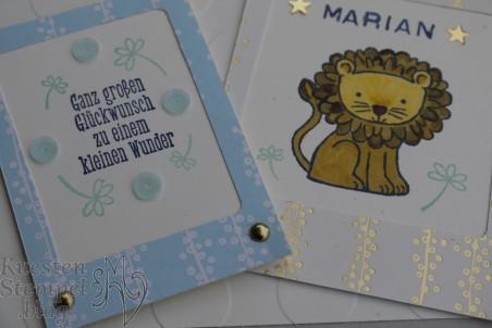 Tierische Glückwünsche, Labeler Alphabet, Süßes Häschen, Designerpapier Baby Glück, Stampin'Write Marker, Stampin' Up, Kuestenstempel.blog