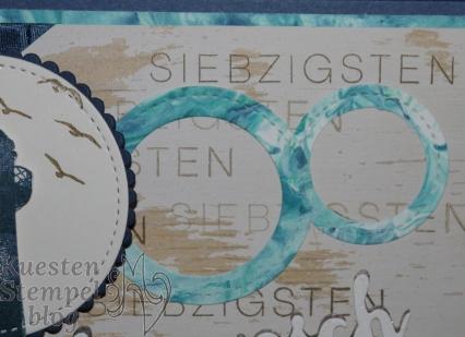 P1340243Meilensteine, Lagenweise Kreise, Stickmuster, Durch die Gezeiten, Rasierschaumtechnik, Grüße voller Sonnenschein, Stampin' Up, Kuestenstempel.blog