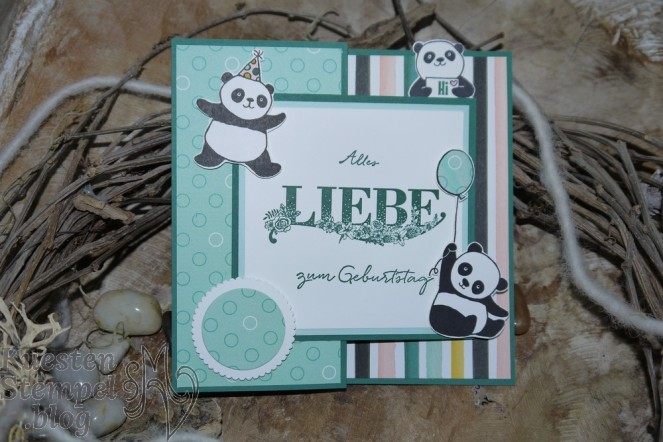 Double Z Joy Fold Card, Tuttifrutti, Party-Pandas, Beste Wünsche, Allerliebst, Paper Piecing, Stampin' Up, Kuestenstempel.blog