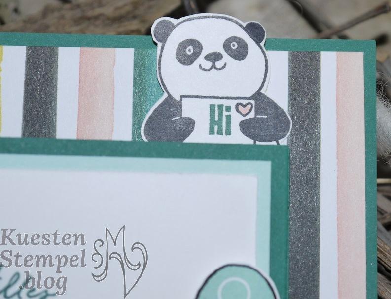 Double Z Joy Fold Card, Tuttifrutti, Party-Pandas, Beste Wünsche, Allerliebst, Paper Piecing, Stampin' Up, Kuestenstempel.blog