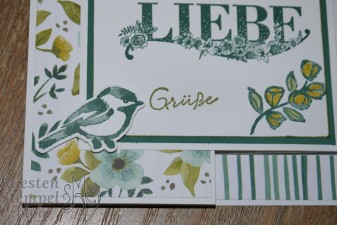 Beste Wünsche, Blütentraum, Thinlits Blüten Blätter & Co, Stampin' Write Marker, Double Z Joy Fold Card, Designerpapier Allerliebst, Stampin' Up, Kuestenstempel.blog