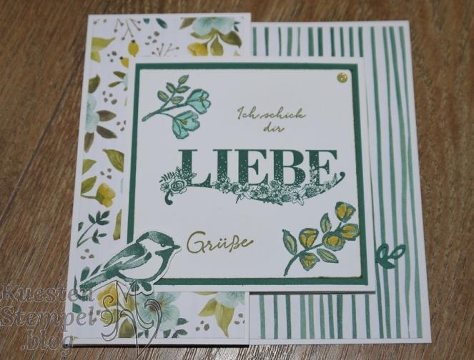 P1340353Beste Wünsche, Blütentraum, Thinlits Blüten Blätter & Co, Stampin' Write Marker, Double Z Joy Fold Card, Designerpapier Allerliebst, Stampin' Up, Kuestenstempel.blog