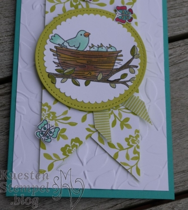 Flying Home, Stampin' Blends, Framelits Stickmuster, Lagenweise Kreise, Blätter-Relief, Stampin' Up, Kuestenstempel.blog