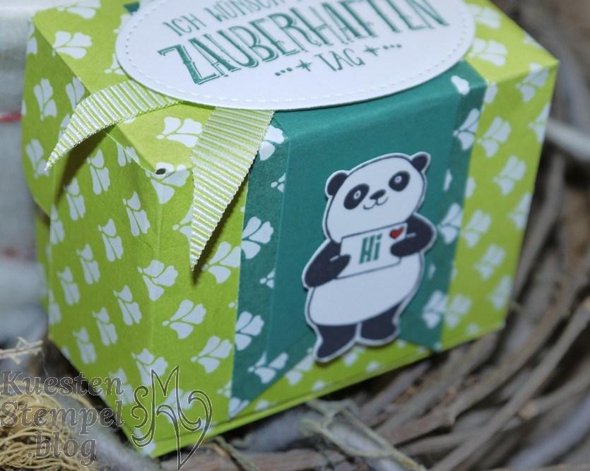 Party-Pandas, Blütenfantasie, Zauberhafter Tag, Florale Fantasie, Framelits Stickmuster, Verpackung, Stanz- und Falzbrett für Geschenktüten, Sonne, Zier-Etikett, Stampin' Up, Kuestenstempel.blog