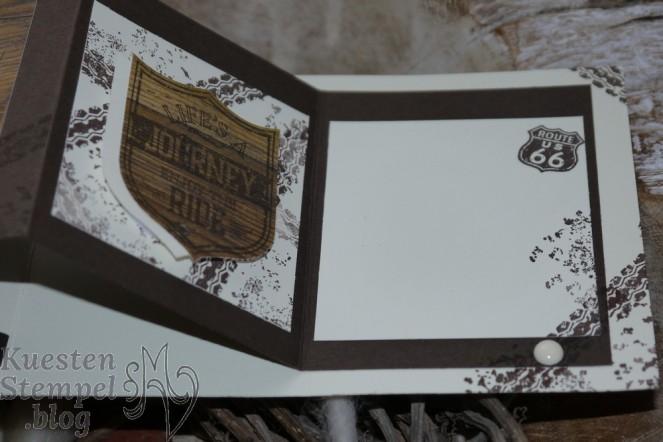 Faltkarte, One Wild Ride, Framelits große Zahlen, Wappen, Babyglück, Meilensteine, Holzdekor, Stampin' Up, Kuestenstempel.blog