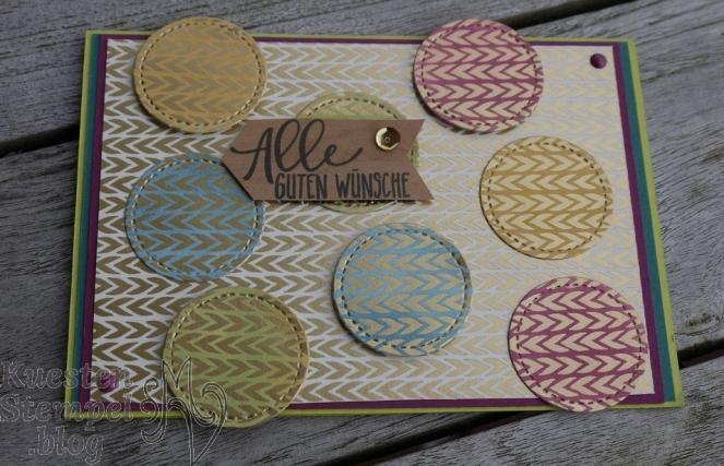 Perfekter Geburtstag, Designerpapier Babyglück, Framelits Stickmuster, Fingerschwämmchen, Designerpapier Holzdekor, Stampin' Up, Kuestenstempel.blog