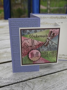 Retiform Technique, Retiring Products Blog Hop, Awesome Artistic, Meilensteine, Milestone Moments, Landhaus-Idylle, Cozy Cottage, Stadt Land Gruß, In the City, Paisley Framelits Dies, Gemalt mit Liebe, Painted with love, Babyglück, Bundle of love, Double Z Joy Fold Card, Stampin' Up, Kuestenstempel,blog