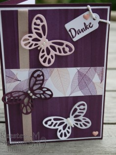 Thinlits Schmetterlinge, Designerpapier Poesie der Natur, Framelits Holzkiste, Blütentraum, Stampin' Up, Kuestenstempel.blog