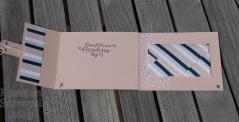 Designerpapier Sternenhimmel, Wahrlich Vintage, Liebevolle Details, Framelits Bestickte Etiketten, Funkelstern-Pailletten, Silbern gestreifte Kordel, Stempelhausaufgabe, Klappkarte, Stampin' Up, Kuestenstempel.blog