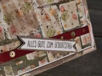 Fliesentechnik mit Dekoschablonen, Faux Tile Technique with decorativ Masks, Runder Geburtstag, Stampin' Up, Kuestenstempel.blog