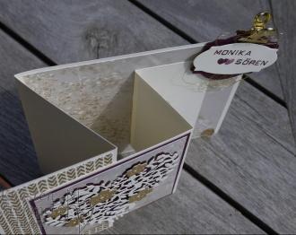 Blühendes Herz, Florale Fantasie, Thinlits Rosengarten, Zier Etikett, Hochzeit, Labeler Alphabet, Facettierte Glitzersteine, Stampin' Up, Kuestenstempel.blog