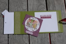 Designerpapier Prachtfarben, Mediterranean Moments, Stickmuster, Gutscheinkarte, Stampin' Blends, Embossing, Aus der Kreativwerkstatt, Grußkollektion, Stampin' Up, Kuestenstempel.blog