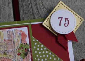 Designerpapier Prachtfarben, Mediterranean Moments, Stickmuster, Gutscheinkarte, Stampin' Blends, Embossing, Stampin' Up, Kuestenstempel.blog