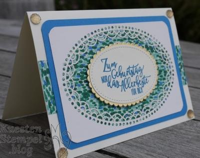 Designerpapier Garten-Impressionen, Spezialpapier Fantastisch Filigran, Perfekter Geburtstag, Stickmuster, Lagenweise Ovale, Stampin' Up, Kuestenstempel.blog