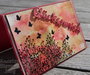 Ink Smooshing Technique, Enjoy Life, Embossing, Grüsse voller Sonnenschein, Poesie der Natur, Stampin' Up, Kuestenstempel.blog