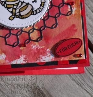 Ink Smooshing Technique, Trick or Tweet, Landleben, Wie zu Hause, Klassisches Etikett, Lagenweise Kreise, Stickmuster, Stampin' Up, Kuestenstempel.blog