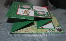 Weihnachtswerkstatt, Weg zum Weihnachtsmann, Double Joy Z Fold Card, Weihnachten, Schneeflocke, Stampin`Up, Kuestenstempel.blog