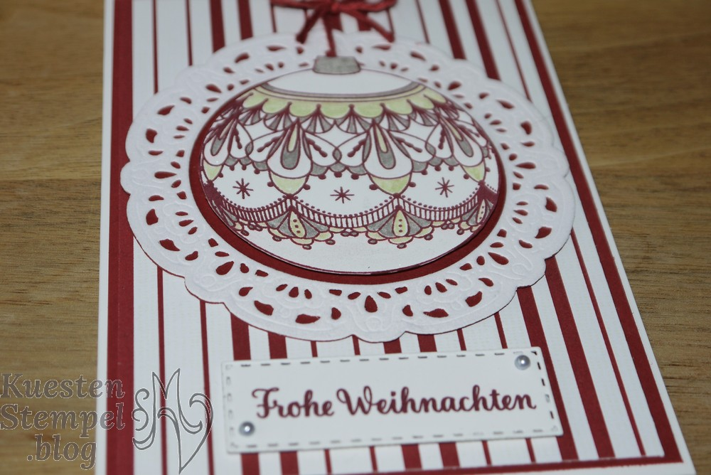Beautiful Baubles, Thinlits Bezaubernder Baumschmuck, Hüttenromantik, Weihnachtswerkstatt, Weihnachtsstern, Stampin' Up, Kuestenstempel.blog