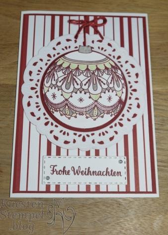 P1360863Beautiful Baubles, Thinlits Bezaubernder Baumschmuck, Hüttenromantik, Weihnachtswerkstatt, Weihnachtsstern, Stampin' Up, Kuestenstempel.blog