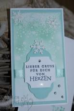 Flockenfantasie, Weihnachtsmärchen, Thinlits Formen Schneegestöber, Zier-Etikett, Stanz-Box Exquisite Etiketten, Embossing, Stampin' Up, Kuestenstempel.blog