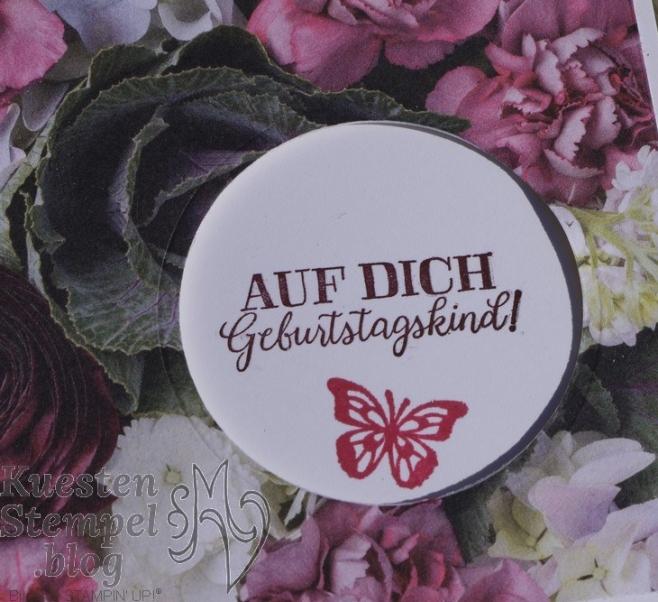 Peek-a-boo-window-card, Voller Schönheit, Geburtstagsmix, Schöne Schmetterlinge, Blätter-Relief, Blütenpracht, Lagenweise Kreise, Stampin' Up, Kuestenstempel.blog