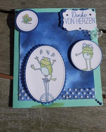 Glitter Splitter Technique, Froschkönig, Lagenweise Ovale, Stickmuster, Stampin' Blends, Glücksfälle, Schmetterlingsglück, Lagenweise Kreise, Stampin' Up, Kuestenstempel.blog