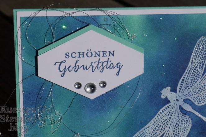 Glitter Splitter Technique, Etikett nach Maß, Li(e)belleien, Embossing, Liebevolle Details, Stampin' Up, Kuestenstempel.blog
