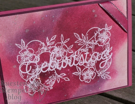 Glitter Splitter Technique, Geburtstagsmix, Embossing, Geburtstagsworte, Stampin' Up, Kuestenstempel.blog