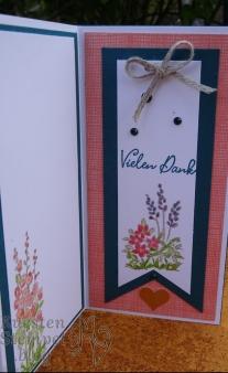 Pop out swing card, Geheimnisvoller Garten, Poesie der Natur, Blätterzweig,Stickmuster, Lagenweise Quadrate, Wunschworte, Stampin' Up, Kuestenstempel.blog