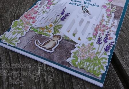 Geheimnisvoller Garten, Gartentor, Colorieren, Stickmuster, Liebe Gedanken, Ganz mein Geschmack, Stampin' Blends, Aus der Kreativwerkstatt, Geburtstag, Stampin' Up, Kuestenstempel.blog